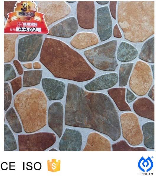 Stone look porcelain floor tiles