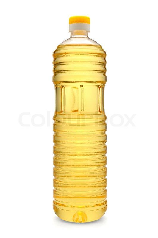 Sunflower oil bottle