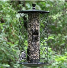 Caged Tube Metal Bird Feeder