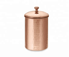 Copper Hammered Canister Box