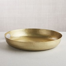 Gold Hammered Decor Tray