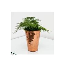 Hammered Galvanized Planter Pot