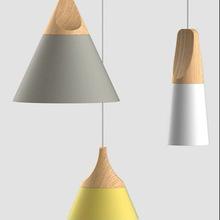 Metal Wood Pendant Lamp