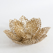 Metal Flower Votive Holder