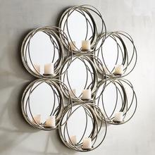 Metallic cheap candle holder