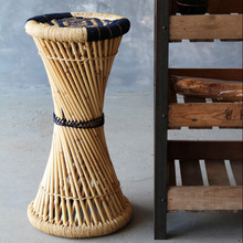 Tall Bamboo Side Table