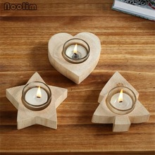 Wedding Wooden Candle Holder