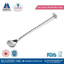 Bar Spoon With Muddler Knob