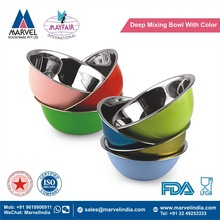 Deep Mixing Bowl With Color