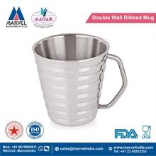 Double Wall Ribbed Mug