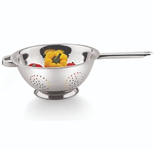 Stainless Steel Long Handle Deep Colander