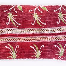 cotton kantha pillow cover
