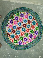 Embroidered round Wall Hanging