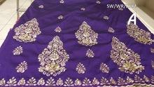 fushia pink african george lace fabric