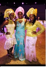 Sequins Embroideried wedding AFRICAN  Dress