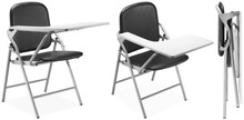 Folding School Chair with Writing Tab