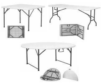 Plastic Round Folding Table