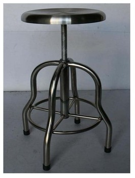 stainless steel adjustable lab stool