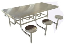 Stainless Steel Canteen Table and Chair