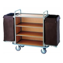 Stainless steel tube housekeeping trolley