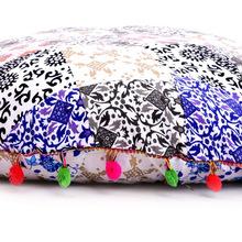 boho decorative round gypsy throw pillow case