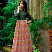 boho floral sleeve ethnic long maxi dress