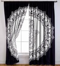 Cotton Hamsa Fatima Ethnic Mandala Window Curtain