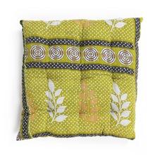 cotton kantha quilt pillow dining cushion soft chair pad