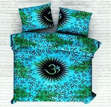 cotton om mandala queen size duvet cover doona set