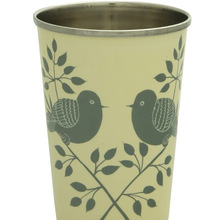 Hand painted stainless steel cup