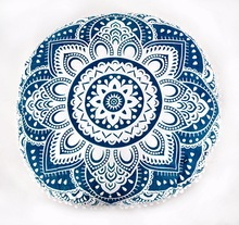 hand screen print latest design round cushion cover pillow