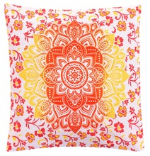 Ombre mandala cushion cover