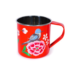 Painted drinking cup