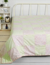 patchwork double bed blanket