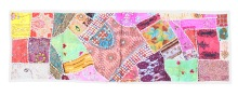 patchwork sequins tapestry runner throw