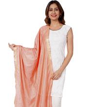 silk dupatta stole sarong peach plain shawl wrap
