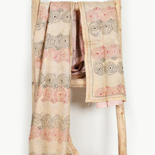 silk reversible kantha quilted patchwork shawl