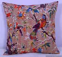 stitched pillow indoor AND outdoor-indian kantha cushion cover