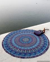 Tapestries Elephant Mandala Round Handmade Beach throw