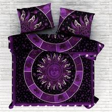 un moon indian mandala print hippie bedding duvet quilt cover
