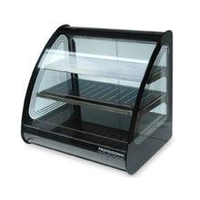 Black Mirror-polished Steel Display Cabinet
