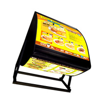 Food Restaurant Three Sided LED Menu Board
