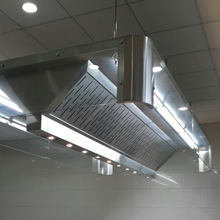 Kitchen Hood With Glass Cover