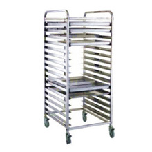Stainless Steel Kitchen Pans Tray Rack Trolley