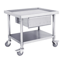 Stainless Steel Mobile Bench With Drawer