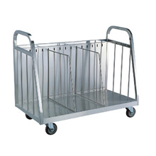 Stainless Steel Pan Collecting Trolley Cart