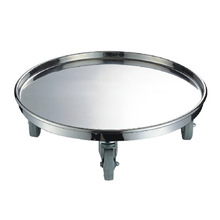 Stainless Steel Round Pan Food Trolley