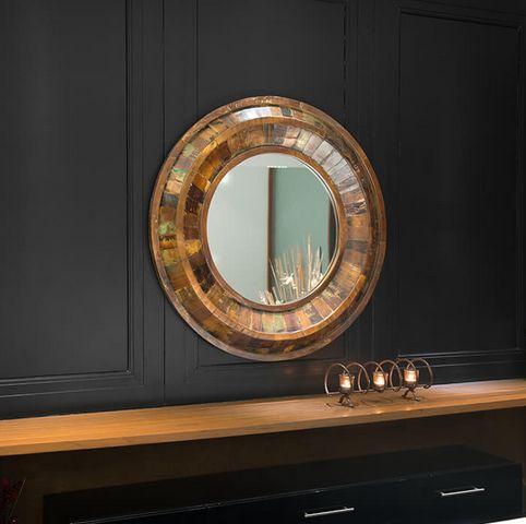 Shunya Bronzy Round Wall Mirror
