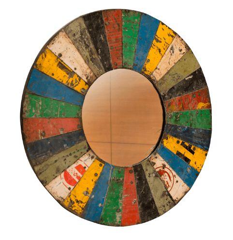 Circus Round Wall Mirror