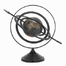 Black Metal World Globe